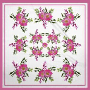 Prairie Rose Bouquet Silky Scarf