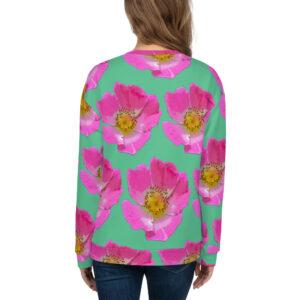 Mint Prairie Rose All-Over Print Sweatshirt