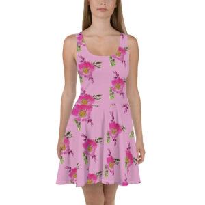 Prairie Rose Bouquet Print Skater Dress