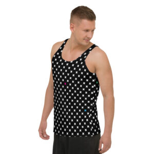 Colorful X Pattern Unisex Tank Top