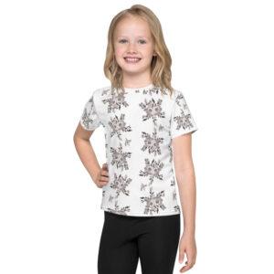 B&W Prairie Rose Bouquet All-over Kids T-Shirt