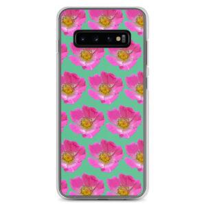 Mint Prairie Rose Print Samsung Case