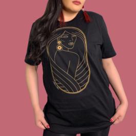 Native Goddess Black/Gold Short-Sleeve Unisex T-Shirt